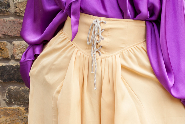 Philip Lim Yellow Silk Skirt
